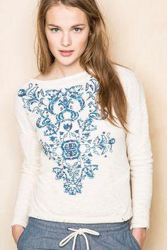 CAMISETA PUNTO CORTADO » T-shirts » Woman