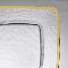 Plate Liner Glass/Gold Trim Square
