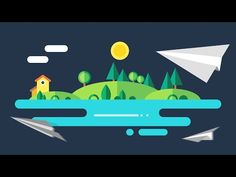 This PowerPoint tutorial is about motion graphic sunrise animation. Here, I have showed how to design a flat city and then how to add the animation. Learn Animation, Animation Stop Motion, Cinema 4d Tutorial, Animation Tutorial, After Effects, Motion Design, Personal Project Ideas, Powerpoint Tutorial, Powerpoint Animation