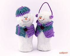How to make Papier Mache Snowmen - handmade Christmas Crafts to fill your home with cuteness and cheer