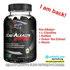 EFX KRE-ALKALYN HYPER von All American EFX, 120 SUPER CAPS, Kre-Alkalyn ✓ L-Citrulline ✓ Koffein ✓ Green Tea Extract ✓ Niacin ✓ - Für die die es ernst meinen... ►►►http://www.active12.ch/Nahrungsmittel-und-Sportnahrung/Sportnahrung-und-Ergaenzungen/Kreatin-Produkte/EFX-KRE-ALKALYN-HYPER.html #EFX #EFXKREALKALYN #HYPER #EFXKREALKALYNHYPER #AllAmericanEFX #AllAmerican #Citrulline #Koffein #Caffeine #Coffein #Grüntee #GreenTea #Greenteaextract #Niacin #B3 #PP #Power #Kraft #Powerlifting