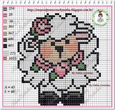 Lamb perler bead pattern