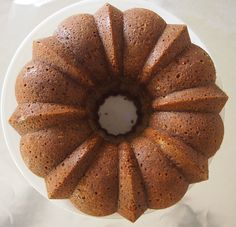 Pear Bundt Cake with Creme Anglaise #fall #baking #recipe