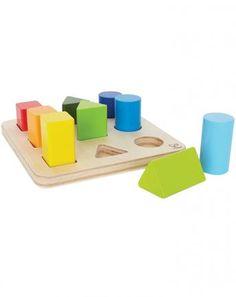 Farben- und Formensortierer aus Holz in bunt
