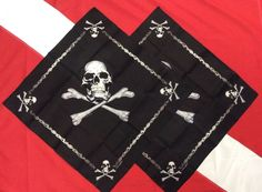2-Jolly Roger Pirate bandana's Rothco survival emergency tactical disaster