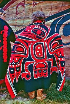 Button Blanket. Indigenous peoples of the Pacific Northwest Coast.