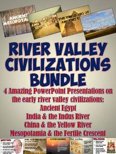 An amazing time and money-saving bundle of 4 beautiful PowerPoints on each of the early river valley civilizations: Mesopotamia, Egypt, the Indus River, and Yellow River Valley! Each includes fantastic visuals, simple easy to understand notes, maps, and more!