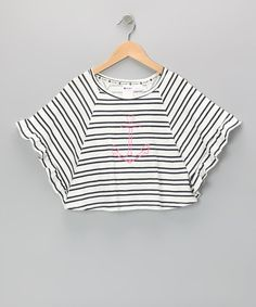 Take a look at this White Break the Ice Cape-Sleeve Top - Toddler & Girls by Roxy on #zulily today!