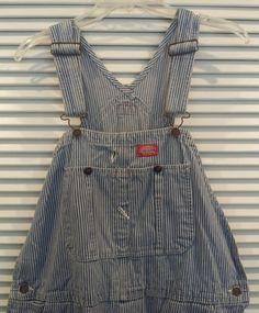 Denim Overalls 36x32 Dickies Engineer Striped Denim Jeans bib carpenter farmer #Dickies #CarpenterEngineer