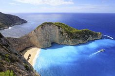 Navagio Beach and the Blue Caves in Zakynthos, Greece | 25 Surreal Places You Won't Believe Actually Exist