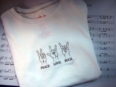 Peace Love Rock Sign Language by GreenGableCreations on Etsy - StyleSays