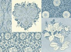 Deco Heart Blue Print By Jq Licensing