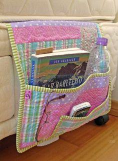 bolso de patchwork para cama