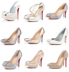 #Louboutin #Weddingshoes #Bling #Glitter #Nude