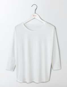 Boden Supersoft Oversized Top White Women Boden, White The one youll want in every shade - its made from supersoft cotton modal, comes in a variety of colours and the oversized fit and batwing sleeves are a style winner. http://www.MightGet.com/january-2017-13/boden-supersoft-oversized-top-white-women-boden-white.asp