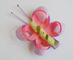Butterly ribbon hair clip