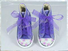 Purple rose converse/ kids converse/ bridesmaid by CindersWish