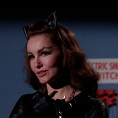 """Julie Newmar is The Catwoman in Batman """"The Catwoman Goeth"""" 1966 Batman 1966, Batman Comics, Batman Robin, Dc Comics, Julie Newmar, Batwoman, Batgirl, James Gordon, Lee Meriwether"""