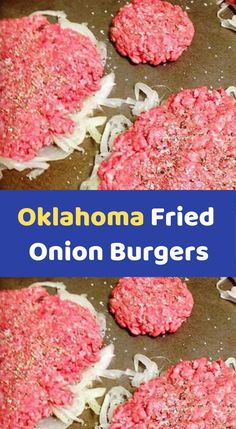 Oklahoma Fried Onion Burgers I thought these would be more complicated but it's actually a very easy recipe. All you need to do is plan ahead enough to let the onions sit in the colander. SP said