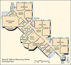 elementary school building design plans |  floor plan of baker