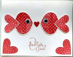 Handmade Punch Art Valentine By Scgustaf . Heart Fish With Googly Eys . Luv  The Polka Dots . Stampinu0027 Up!