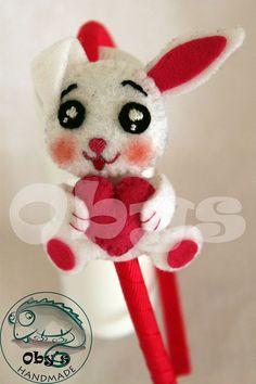 Sweetie felt rabbit with hatband