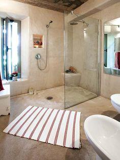 concrete shower plaster los angeles - Mural Artist, Venetian & Tadelakt plastering company in Los Angeles Home, Bathroom Styling, Concrete Bathroom Design, Bathroom Design Inspiration, Diy Bathroom Makeover, Concrete Shower, Modern Farmhouse Bathroom, Bathroom Design, Farmhouse Bathroom Decor