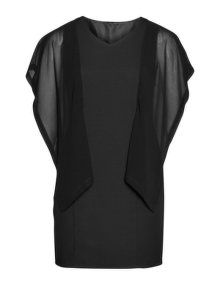 Manon Baptiste Chiffon sleeve dress in Black