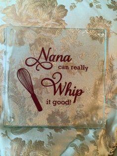 Glass Nana Cutting Board