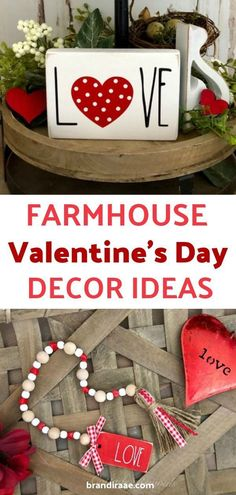 Day Farmhouse Decor Valentine's Day Farmhouse Decor - Create cute Valentine's Day displays with farmhouse style items from Etsy! Valentine's Day Farmhouse Decor - Create cute Valentine's Day displays with farmhouse style items from Etsy! Valentines Day Decorations, Valentine Day Crafts, Holiday Crafts, Holiday Fun, Holiday Decor, Homemade Valentines, Valentine Wreath, Valentine Ideas, Fall Crafts