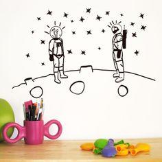 Vinilo decorativo Astronautas