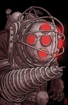 Bioshock 2, Bioshock Infinite, Bioshock Tattoo, Bioshock Series, Daddy Tattoos, Gamer Tattoos, 31 Days Of Halloween, Halloween 2014, Horror