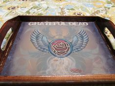 Tray/ Grateful Dead Rolling Tray/ Grateful Dead Trays/ Shot Glass Trays/ Food Trays/ Remote Trays/ Stash Tray/ Easy Wind/ Family/ Creations by EasyWindFamily on Etsy