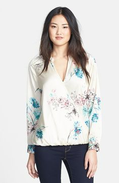 wallis 'Udaipur' Print Faux Wrap Blouse available at #Nordstrom
