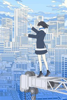 painting and drawing Image Painting, Painting & Drawing, Anime Drawings Sketches, Cute Girl Drawing, Aesthetic Drawing, Sky Art, Monochrome Color, Anime Art Girl, Anime Girls