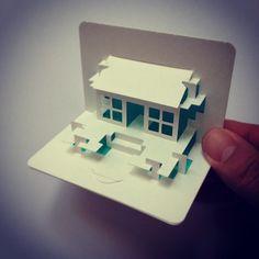 Tea house card... #paper #popup #popuplab #popupcard #popupology #papershapers #popupbusinesscard #kirigami #kiriorigami #kineticpaper #origami #origamic #origamicarchitecture #elodberegszaszi #fold #foldesign by elod beregszaszi, via Flickr