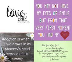 adoption-- One day. :)