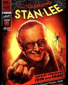 Okay @Marvel fans! Check this out! Celebrating @TheRealStanLee with @LegionMOfficial at the @ChineseTheatres in LA next month! #fansforstan