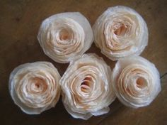 Tutorials and patterns to make flowers out of coffee filters. I've always enjoy paper crafts and have made many tissue paper flowers over the...