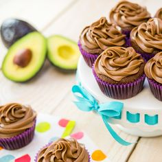 Vegan Chocolate Cupcakes May sound too good to be true but trust us, they're delicious. Created by Vegan Chocolate Cupcakes, Vegan Dark Chocolate, Avocado Recipes, Veggie Recipes, Vegetarian Recipes, Just Desserts, Dessert Recipes, Dairy Free Recipes, Free Food