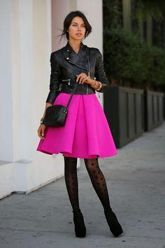 edge, fem pink, dotty tights