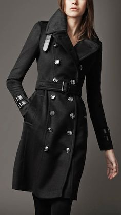 289840f5801 Black Burberry Trench...what else is new a gorgeous Burberry coat I love