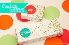 Piggy Bank Parties Confetti Matchbox Favor Boxes
