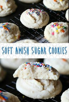 These Soft Amish Sugar Cookies are hands-down my new favorite cookie.  So simple and melt-in-your-mouth delicious I can't even stand it!