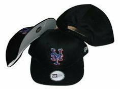 New York Mets Black Low Profile Snapback Adjustable Plastic Snap Back Hat / Cap by New Era. $10.99. Save 42%!
