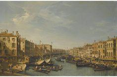 Bernardo Bellotto, Venice, The Grand Canal, Looking South-West, From the Rialto Bridge to the Palazzo Foscari.