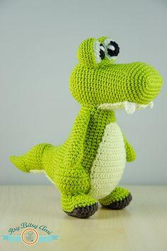 Zapy, The Crocodile by ItsyBitsyAmi, via Flickr amigurumi crochet