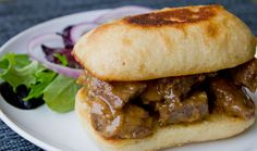 Caramelized Onion Cheese Steak Sandwich
