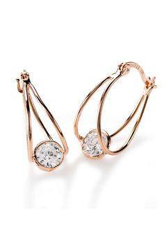 Oh, yeah. These are so being worn this weekend! Hello, world: we're fabulous. 18k Rose Gold, Diamond Are A Girls Best Friend, Sterling Silver Earrings, Leather Handbags, Studs, Feather, Fine Jewelry, Diamonds, Chokers