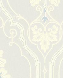 Tapet Älgå Vit/Ljusblå från Lim & Handtryck